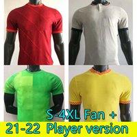 S-4XL Вентилятор + Игрок Футбол Джерси Домашний домой 31 22 22 Мужчины 2021 2022 Детская молодежная футбольная футболка Tops Mailoots