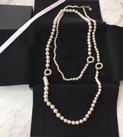 Collier de la chaîne de la chaîne Porclier de marque de mode populaire pour femme de luxe de luxe de mariage pour la mariée avec une boîte