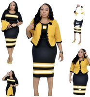 5xl 6xl plus size mulheres duas peças vestido vestido tops e vestidos africanos elegante design escritório senhora terno