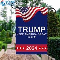 2024 Trump Seçim Afiş Bayrak Kampanyası Bahçe Bayrakları için Cumhurbaşkanlığı ABD Dijital Baskı Bannerlar 30 * 45 cm Amerika Tutmak Büyük 3 49CD Q2