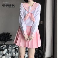 Klassische japanische Anime-Schulmädchen Rosa Sailor JK-Kleid Hemden Uniform Cosplay Kostüme Kawaii Student Outfit Fahion Tägliche Kleidung