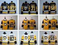 87 Sidney Crosby Pittsburgh Penguins 2021 Reverse Retro Jersey Jake Guentzel Kris Letang Kapanen Tristan Jarry Malkin Hóquei Jersey