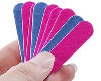 colore blu e rosa il prezzo del chiodo del prezzo più basso doppio colore mini tampone di legno della levigatura 180/240 strumenti manicure monouso per lime un tribuna