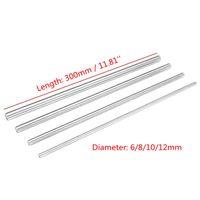 Bearings 300mm Length Linear Rail Shaft High Carbon Steel 3D Printer Parts Smooth Rod 6 8 10 12mm Diameter