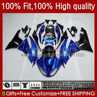 Bodywork de la inyección para Kawasaki Ninja ZX 6R 6 R 636 600 CC 600CC ZX600C 13NO.16 ZX636 ZX6R 09 10 11 12 ZX-636 ZX-6R 2009 2011 2011 2012 ZX600 09-12 OEM Fairing Pearl Blue Blue