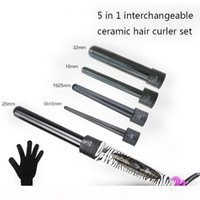 5 in 1 change tube curling iron set Multi-function Hair Curling Iron Hair Flower Cone Electric Curler Roller Wand