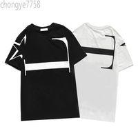 2021 летняя мода бренда роскошные O-шеи мужские футболки вершины с коротким рукавом рубашка черные белые мужчины дизайнерские тройники Chog