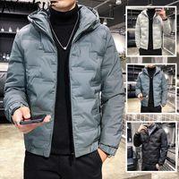Erkek Aşağı Parkas Ayunsue Ceketler Sonbahar Kış Ceket Erkekler Giyim Kapşonlu Sıcak Artı Boyutu Kirpon Ceket Veste Homme Hiver 2021 KJ6035