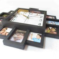 إطار الصورة ساعة الحائط جديد diy الحديثة desigh الفن صورة غرفة المعيشة ديكور المنزل horloge-abux1 2179 v2