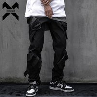 Erkek Pantolon 11 ByBB'nin Karanlık Taktik Fonksiyonel Kargo Joggers Erkekler Pantolon Hip Hop Streetwear Kurdela Çok Cep Siyah WB169