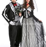 2021 Skeleton ghost bride male ghost Day Couple costume ghost couple Costume Halloween Party Costume Ball Costume_yw