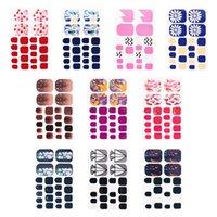Venta al por mayor 3D pegatinas de uñas para mujeres 22 PCS Consejos Pegatinas de la uña Pegatina Etiquetas de calcomanías de mármol a prueba de agua Herramientas de arte
