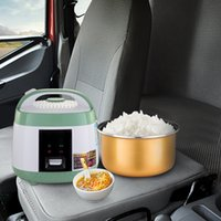 السفر طباخ الأرز 24 فولت الكهربائية 3L صندوق الغداء القابل للإزالة وعاء غير عصا إبقاء وظيفة دافئة حساء الطبخ، الأرز، الخنشات، الحبوب والديه