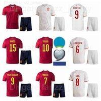 2021 2022 Futebol 20 Ferran Torres Jersey Set National Team 7 Alvaro Morata Sergio Busquets Mikel Oyarzabal Camisa de futebol Kits Europa Cup Euro Patch