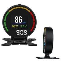 Diğer Oto Elektronik Renkli Ekran Sürüş Dijital OBD2 HUD Speedometer Evrensel Takometre Güvenli Kafa Yukarı Ekran Araba Over Speed Uyarı