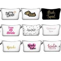 Newdigital Druk Druhna Makijaż Torba Zespół Bride Tribe By Be Makeup Torba Prezent Wniosek Wedding Bachelorette Party Kosmetyczna EWB5191