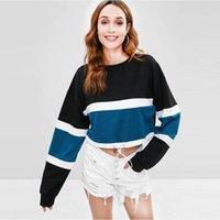 Streetwear Woman Hoodies Female Hoody European Style Sweatshirts Autumn Winter Patchwork Jumper Women's &