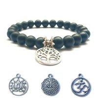 Albero della vita Matted Branca Branelli Branca Branca Bracciale Yoga Amicizia Naturale Energia Stonebracelet Gioielli perline perline, fili