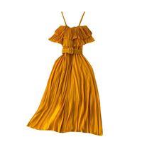 Women Dress Summer 2021harming Spaghetti Straps A-line Dresses Fashion Elegant Formal Lady Evening Prom Gown Casual
