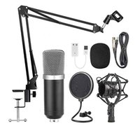 Condensador profesional Micrófono Computadora K Conjunto de canciones con soporte para karaoke YouTube Micrófonos en vivo