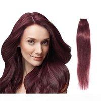 99J Burg Tape dans l'extension des cheveux de la Vogue Human 20pcs Lot Double dessinés Brésilien Human Hair DHL Fast Shirt Extension des cheveux