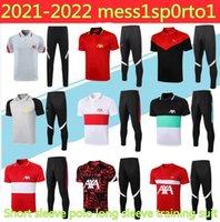 2020 21 Kurzarmanzug Fußball Polo 3/4 Jogging Chandal Futbol Größe S-2XL