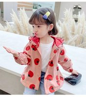 Jackets Spring Autumn Girls Hooded Jacket Children's Loose Casual Windbreaker Baby Cute Kids Coat For