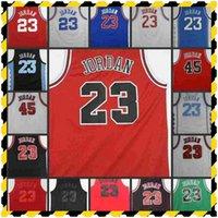 Erkek # 23 45 Michael Formaları 33 Scottie Pippen 91 Dennis Rodman Zach Lavine Erseys Nakış Dikişli Basketbol Formaları
