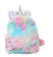 Unicorn Backpack Cute Cartoon School Bag Tie Dye Plush Back Pack Kids Gift Book Bags Fashion Accessories 2 Designs Optional BT6675