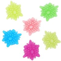 Laundry Bags 6 Pieces Magic Ball Reusable Household Cleaning Machine Washing Clothes Softener Starfish Shape Solid Colo