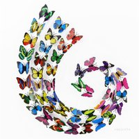 7cm simulation butterfly 3D Wall Stickers curtain decoration PVC Butterfly Wall Sticker butterflys crafts accessories 200pcs lot ZC198