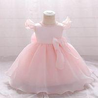 Girls Dresses 1st Birthday Dress For Baby Girl Clothes Kids Clothing Pearl Princess Pettiskirt Formal Wear B7246