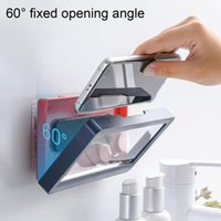 Tablet Or Phone Holder Waterproof Case Box Wall Mounted All Covered Mobile Shelves Self-Adhesive Shower Accessories Cell Mounts & Holders