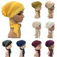 Donne in pizzo Cappello da fiore CANCRO CHEMO MUSULLIMI Hijab Turban Cap Cap perdita di capelli Cap Head Wrap Interiore interno coda lunga Berretto arabo Berretti arabi nuovi