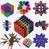 Party Fority DIY Металл Неодимов Волшебная 5 мм Магнитные Магнитные Шарики Блоки кубика Строительство Здание Игрушки Colorfull Arts Ремесла Игрушка более 14 лет