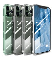 Premium Transparent Clear Hybrid Tempered Glass TPU Shockproof Hard phone case for iPhone 12 Mini 11 Pro XS Max XR X