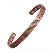 Bangle Women Magnetic Copper Bracelet Fashion Rose Gold Color Magnet Healing Jewelry For Woman Men Accessories