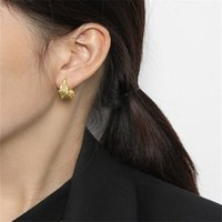Authentic 925 Sterling Silver Jewelry Stud Earring New Simple Geometric Irregular Hollow Earrings For Women