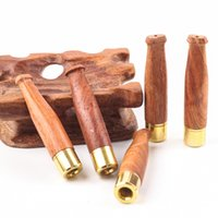 Solid Wood Smoke Pipes Type Straight Detachable Ladies Thin Cigarette Holder Portable Tobacco Pipe 4609 Q2