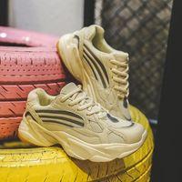 패션 테니스 신발 여성 통기성 레이스 업 두꺼운 솔 스니커즈 가을 여성 야외 메쉬 조깅 신발