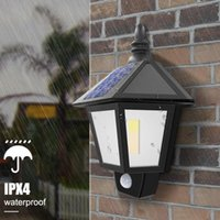 Solar Lamps Light Outdoor Ip65 Induction Wall Lamp LED Waterproof Lighting For Garden Landscape Security