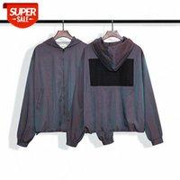 Paura di Dio / nebbia Doppia linea La sesta stagione Main Laser Gradient Pullover Label Jacket Giacca Giacca a vento # 6x0m