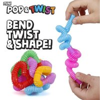 2021 toys Pop Fidget MinNi Children to vent toy telescopic corrugated color elastic stretch drawn tube