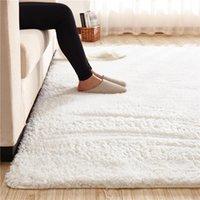 Carpets 40 Lamb Velvet Fabric Carpet Fluffy Soft Mat Rug For Children Kids Area Rugs Anti-Slip White Bedroom Living Doormats
