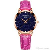 Relojes de Gypsophila de las mujeres Calidad Señora Red Impermeable Cuero Famosa Marca Merana Reloj Femenino Love Regalo Caja Reloj Amantes Muñeciones