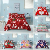Sheets & Sets Xmas Christmas Bed Sheet For Bedroom Polyester Cartoon Santa Claus With Case Happy Year Decor Bedspread