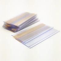 Forniture al dettaglio Rifornimento di plastica PVC Shelf Strips Strips Supporto per clip Merchandise Prezzo del talker Segno Display con nastro adesivo forte sul retro 100pcs