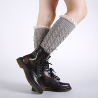 Crochet Knit Braid knee high Anklet Leg Warmers Socks Boot Cuffs Toppers Leggings Women girls Autumn Winter loose Stockings Fashion Clothing black will and sandy