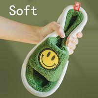 WEH Memory Foam Slippers Winter Men Fluffy Push Indoor Super Soft Home Sandals Cute Cartoons Room Slides Shoes House Women