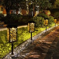 Solar Lamps Lights Outdoor Upgraded Pathway Light With Bigger Panel Longer Working Time IP65 Waterproof For Garden Lawn